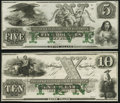 Obsoletes By State:Rhode Island, Newport, RI- New England Commercial Bank $5 18__; $10 18__ Remainders Choice About Uncirculated or Better.. ... (Total: 2 notes)