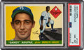 Baseball Cards:Singles (1950-1959), 1955 Topps Sandy Koufax #123 PSA NM-MT 8. The belo...