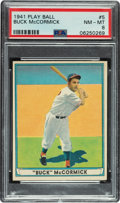 Baseball Cards:Singles (1940-1949), 1941 Play Ball Buck McCormick #5 PSA NM-MT 8 - Only Two Higher. ...