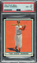 Baseball Cards:Singles (1940-1949), 1941 Play Ball Harry Danning #7 PSA NM-MT 8 - Only Two Higher. ...