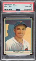 Baseball Cards:Singles (1940-1949), 1941 Play Ball Pinky May #9 PSA NM-MT 8 - Only Two Higher. ...