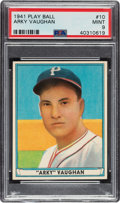 Baseball Cards:Singles (1940-1949), 1941 Play Ball Arky Vaughan #10 PSA Mint 9 - Pop Two, None Higher. ...