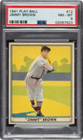 Baseball Cards:Singles (1940-1949), 1941 Play Ball Jimmy Brown #12 PSA NM-MT 8 - Only Two Higher. ...