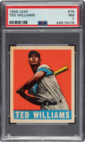 Baseball Cards:Singles (1940-1949), 1948 Leaf Ted Williams #76 PSA NM 7....
