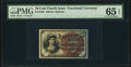 Fractional Currency:Fourth Issue, Fr. 1259 10¢ Fourth Issue PMG Gem Uncirculated 65 EPQ.. ...