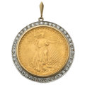 Estate Jewelry:Pendants and Lockets, Diamond, Gold Coin, Gold Pendant . ...