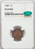 1885 1C PR67 Brown NGC. CAC. NGC Census: (12/3). PCGS Population: (34/0). CDN: $2,250 Whsle. Bid for NGC/PCGS PR67. Mint...