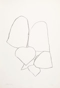 Prints & Multiples, Ellsworth Kelly (1923-2015). String Bean Leaves II, 1965-66. Lithograph on Rives BFK paper. 35-1/2 x 24-1/4 inches (90.2...