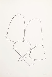 Ellsworth Kelly (1923-2015) String Bean Leaves II, 1965-66 Lithograph on Rives BFK paper 35-1/2 x
