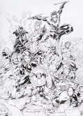 Original Comic Art:Covers, Brett Booth and Norm Rapmund Titans Rebirth #1 Cover Original Art (DC, 2016)....