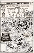 Original Comic Art:Covers, George Pérez and Joe Sinnott Marvel Two-In-One #33 Cover The Thing Original Art (Marvel, 1977)....