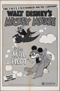 """Movie Posters:Animation, Mickey Mouse in The Mail Pilot (Buena Vista, R-1974). Folded, Fine/Very Fine. One Sheet (27"""" X 41""""). Animation.. ..."""
