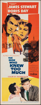 """The Man Who Knew Too Much (Paramount, 1956). Folded, Very Fine-. Insert (14"""" X 36""""). Hitchcock"""