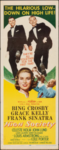 "Movie Posters:Musical, High Society (MGM, 1956). Folded, Fine/Very Fine. Insert (14"" X 36""). Musical.. ..."