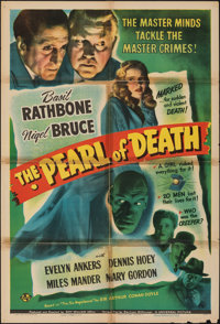 """The Pearl of Death (Universal, 1944). Folded, Very Good/Fine. One Sheet (27"""" X 41""""). Mystery"""