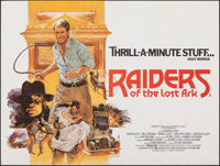 """Raiders of the Lost Ark (Paramount, 1981). Folded, Very Fine+. British Quad (30"""" X 40"""") Brian Bysouth Artwork..."""
