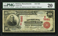 National Bank Notes:Massachusetts, Woburn, MA - $10 1902 Red Seal Fr. 613 Woburn National Bank Ch. # (N)7550 PMG Very Fine 20.. ...