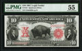 Large Size:Legal Tender Notes, Fr. 122 $10 1901 Legal Tender PMG About Uncirculated 55.. ...