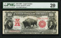 Large Size:Legal Tender Notes, Fr. 122 $10 1901 Legal Tender PMG Very Fine 20.. ...