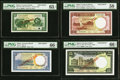 Sudan Currency Board 1956 Specimen Set. ... (Total: 4 notes)