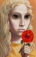 Paintings, Margaret Keane (American, b. 1927). Forgotten Flower, 1969. Oil on canvas. 36 x 24 inches (91.4 x 61.0 cm). Signed and d...