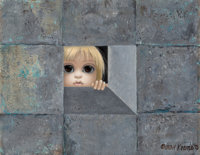 Margaret Keane (American, b. 1927) The Witness, 1975 Oil on canvas 11 x 14 inches (27.9 x 35.6 cm