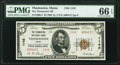 National Bank Notes:Maine, Thomaston, ME - $5 1929 Ty. 2 The Thomaston National Bank Ch. # 1142 PMG Gem Uncirculated 66 EPQ.. ...