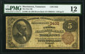 Morristown, TN - $5 1882 Brown Back Fr. 469 The First National Bank Ch. # 3432 PMG Fine 12