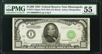 Fr. 2211-I $1,000 1934 Mule Federal Reserve Note. PMG About Uncirculated 55