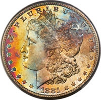 1881-S $1 MS67 PCGS. CAC. PCGS Population: (2590/189 and 330/21+). NGC Census: (4282/293 and 137/11+). CDN: $485 Whsle...