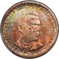 1946 50C Booker T. Washington MS67+ PCGS. CAC. PCGS Population: (100/2 and 22/0+). NGC Census: (68/0 and 3/0+). CDN: $30...