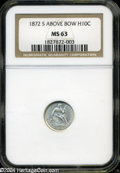 Seated Half Dimes: , 1872-S Mintmark Below Bow MS63 NGC. The current Coin ...