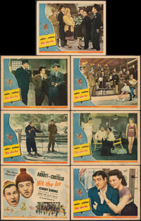 "Hit the Ice (Universal, 1943). Fine+. Title Lobby Card (11"" X 14"") & Lobby Cards (6) (11"" X 14"")..."