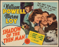 """Shadow of the Thin Man (MGM, 1941). Fine+. Trimmed Title Lobby Card (11"""" X 14""""). Mystery"""