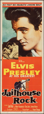 "Jailhouse Rock (MGM, 1957). Folded, Fine/Very Fine. Insert (14"" X 36""). Bradshaw Crandell Artwork. Elvis Presl..."