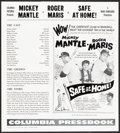 """Movie Posters:Sports, Safe at Home (Columbia, 1962). Very Fine. Uncut Pressbook (6 Pages, 14"""" X 15.5""""). Sports.. ..."""