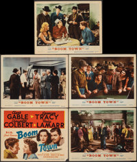 "Boom Town (MGM, R-1956). Fine/Very Fine. Title Lobby Card & Lobby Cards (4) (11"" X 14""). Drama. ... (Total..."