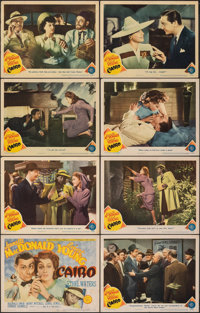 """Cairo (MGM, 1942). Very Fine-. Lobby Card Set of 8 (11"""" X 14""""). Romance. ... (Total: 8 Items)"""
