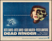 "Dead Ringer (Warner Bros., 1964). Folded, Fine+. Half Sheet (22"" X 28""). Thriller"