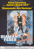 """Movie Posters:James Bond, Diamonds are Forever (United Artists, R-1982). Very Fine on European Linen. Full-Bleed Swedish One Sheet (27.25"""" X 39..."""