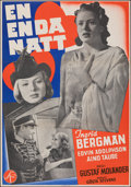 """Movie Posters:Foreign, Only One Night (Svensk Filmindustri, 1939). Folded, Fine/Very Fine. Swedish One Sheet (27.5"""" X 39.5""""). Foreign.. ..."""