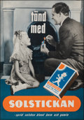 """Movie Posters:Foreign, Solstickan (c.1940s). Rolled, Very Fine. Swedish Advertising Poster (27"""" X 39.5""""). Foreign.. ..."""