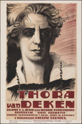 "Movie Posters:Foreign, Thora van Deken (Filmindustriaktiebolaget Skandia, 1920). Folded, Very Fine-. Swedish One Sheet (25"" X 38""). Gunnar Widholm ..."