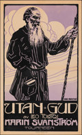 """Movie Posters:Foreign, Without God (1916). Fine/Very Fine on Linen. Swedish Theater One Sheet (23"""" X 37.75"""") Eric Rohman Artwork. Foreign.. ..."""
