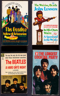 """The Beatles Book Lot (Various, 1961-1974). Fine/Very Fine. Paperback Books (4) (Multiple Pages, 4.25"""" X 6.5"""" &..."""