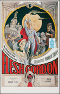 "Movie Posters:Sexploitation, Flesh Gordon (Mammoth Films, 1974). Rolled, Very Fine. Poster (23"" X 35.75""). George Barr Artwork. Sexploitation.. ..."