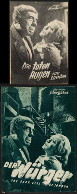 "The Human Monster (Film-Kurier/Film-Kuhne, 1949). Fine/Very Fine. First Release German Herald (5.75"" X 8.25"")..."