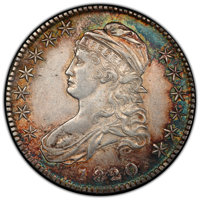 1820/19 50C Square Base 2 AU50 PCGS. PCGS Population: (23/56 and 0/0+). NGC Census: (7/53 and 0/1+). CDN: $1,100 Whsle...