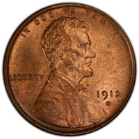 1912-S 1C MS65 Red and Brown PCGS. PCGS Population: (64/3 and 2/0+). NGC Census: (34/3 and 0/0+). CDN: $750 Whsle. Bid f...
