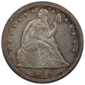 Seated Dollars: , 1846 $1 AU53 PCGS. PCGS Population: (64/235 and 0/10+). NGC Census: (55/259 and 0/2+). CDN: $750 Whsle. Bid for NGC/PCGS AU...